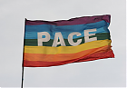 PACE-Flagge im Wind